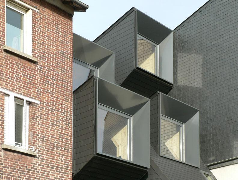 Façade arrière de la Maison L. à La Garenne Colombes - Architecte : Hervé Gaillaguet