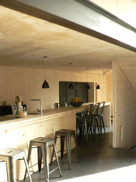 Cuisine de la Maison L. à La Garenne Colombes - Architecte : Hervé Gaillaguet