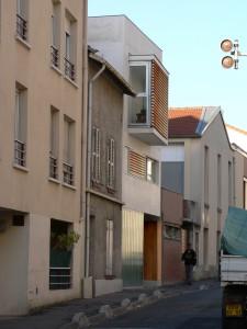 Oriel contemporain de la maison J. à Bagnolet