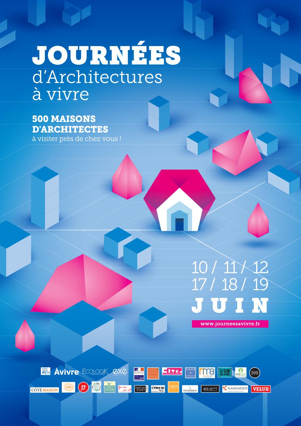 Affiche des Journées d'Architectures à Vivre - Juin 2016