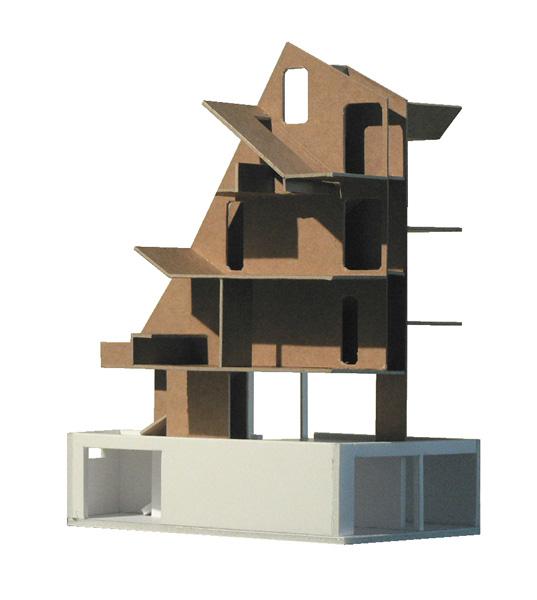 Maquette de la Maison L. à La Garenne Colombes - Architecte : Hervé Gaillaguet