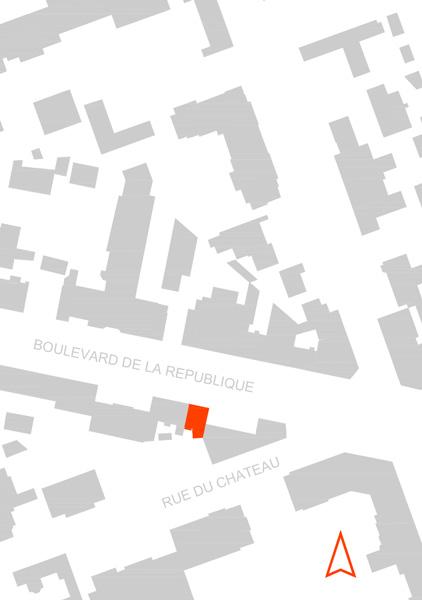 Plan de situation de la Maison L. à La Garenne Colombes - Architecte : Hervé Gaillaguet