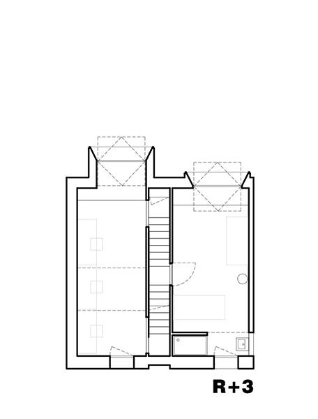 Plan de la Maison L. - R+3 - Architecte : Hervé Gaillaguet
