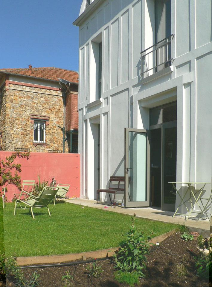 Maison R. - vue du jardin - Architecte : Hervé Gaillaguet